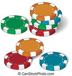 扑克牌芯片