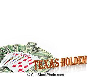 扑克牌, 卡片, 得克萨斯, holdem, 边界