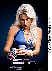 扑克牌, 女孩