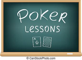 扑克牌, 课, 在中, 学校