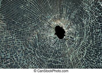 打ち壊された, ガラス