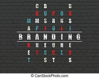 打上烙印, 销售, 难题, concept:, 拼字游戏
