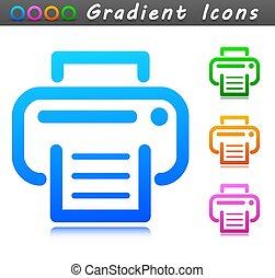 打印机, 符号, 设计, 图标, 矢量