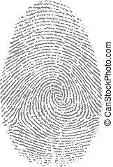 打印, 手指