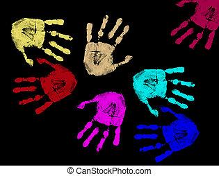 打印, 色彩丰富, 手