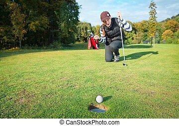 打撃, トーナメント, ゴルフ, 最終的