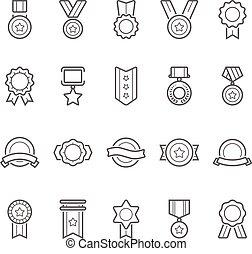 打擊, 矢量, 獎品,  outline, 徽章