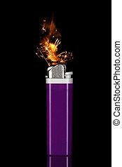 打火機, 由于, sparks/flame