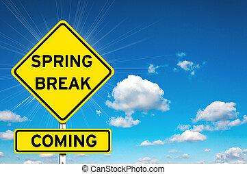 打破, 春天, 来