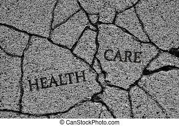 打破, 被爆裂, 健康護理, 系統, 或者