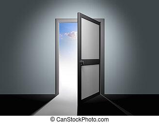 打開門, 到, 天堂