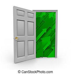 打開門, 到, 成功