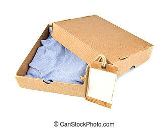 打開, 容器, 卡片, 衣服