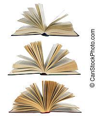打開, 書, 彙整, 被隔离, 在懷特上