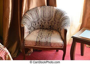 扶手椅子, 在中, 内部, 在中, the, 房间