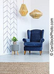 扶手椅子, 在中, 客厅
