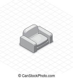 扶手椅子, 或者, 長沙發, 矢量, 插圖