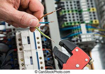 技師, 工具, 工作, 電纜, 藏品