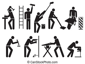 技术工人, pictogram