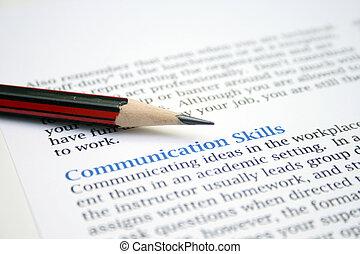 技能, コミュニケーション