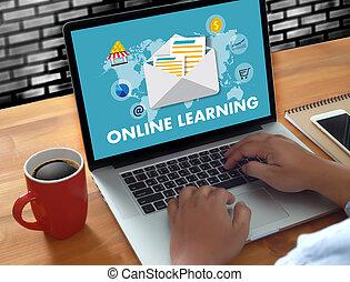 技能, デジタル, 結合性, コーチ, オンラインで学ぶ, インターネット, 教えなさい, 技術