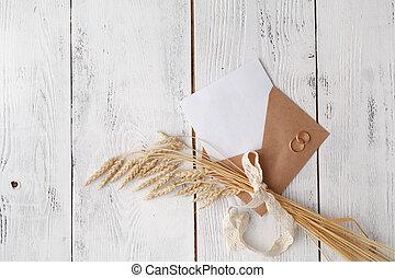 技能, 封筒, 空, 手紙