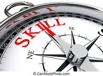 技能, 概念, 単語, 赤, コンパス