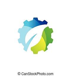 技術, デザイン, eco, ロゴ
