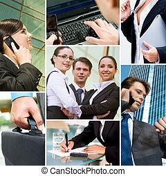 技術, ビジネス 人々