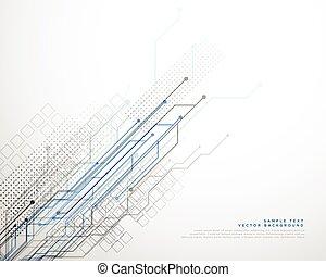 技術, ベクトル, ライン, ネットワーク, 背景