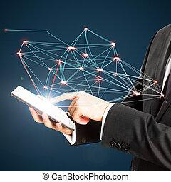 技術, 以及, 連接, 概念