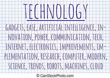 技術, 単語, 雲