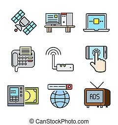 技術, 圖象, 集合, 顏色