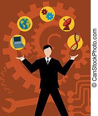 技術, 役割を果たす, 情報, そして, コミュニケーション