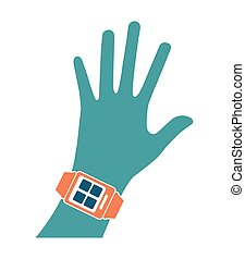 技術, 手, 痛みなさい, 腕時計