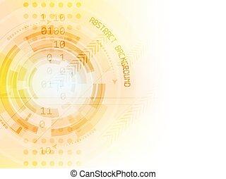 技術, 抽象的, ベクトル, 未来, 背景
