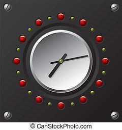 技術, 涼しい, ベクトル, デザイン, 時計