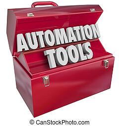 技術, 現代, productivi, 効率, 道具箱, オートメーション, 道具