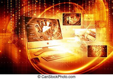 技術, 背景, デジタル