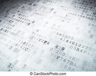 技術, concept:, 二進制代碼, 數字的背景
