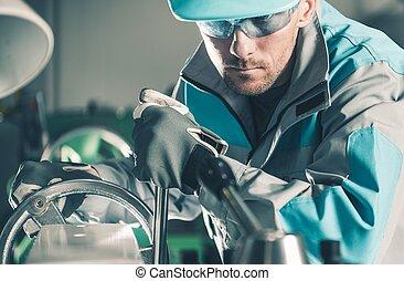 技術, metalworking, 労働者
