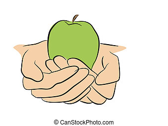 把握, フルーツ, 手