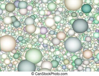 抑制された色, 背景, 球