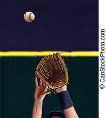 抓住, 棒球, 外場手, 手