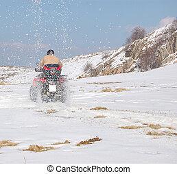 投げる, クォード, 雪