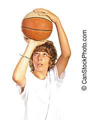 投げる, バスケットボール, ティーネージャー