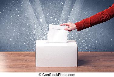 投票箱, 由于, 人, 鑄件, 投票