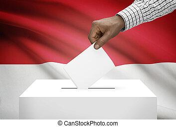 投票箱, 由于, 國旗, 在背景上, -, 摩納哥