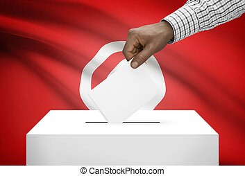 投票箱, 由于, 國旗, 在背景上, -, 突尼斯
