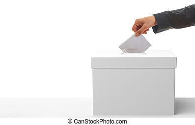投票者, 白, バックグラウンド。, 3d, イラスト